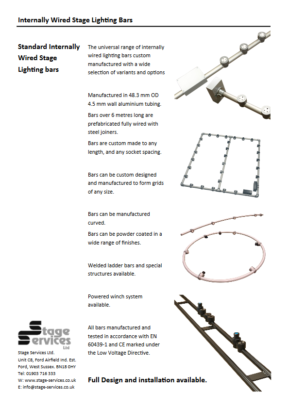 iwb internally wired lighting bar brochure