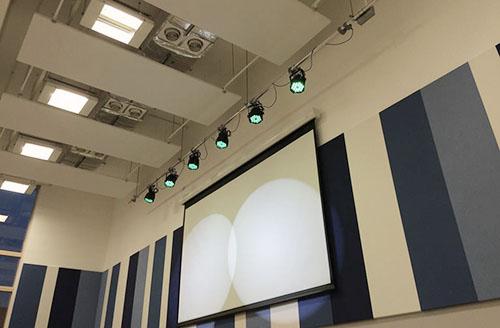 primary school led stage lighting installation