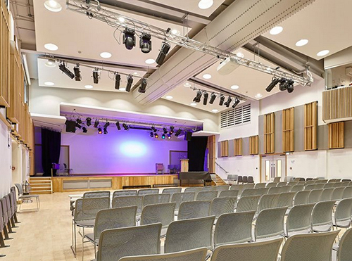 Specialist Installation Of School Hall Stage Curtains And