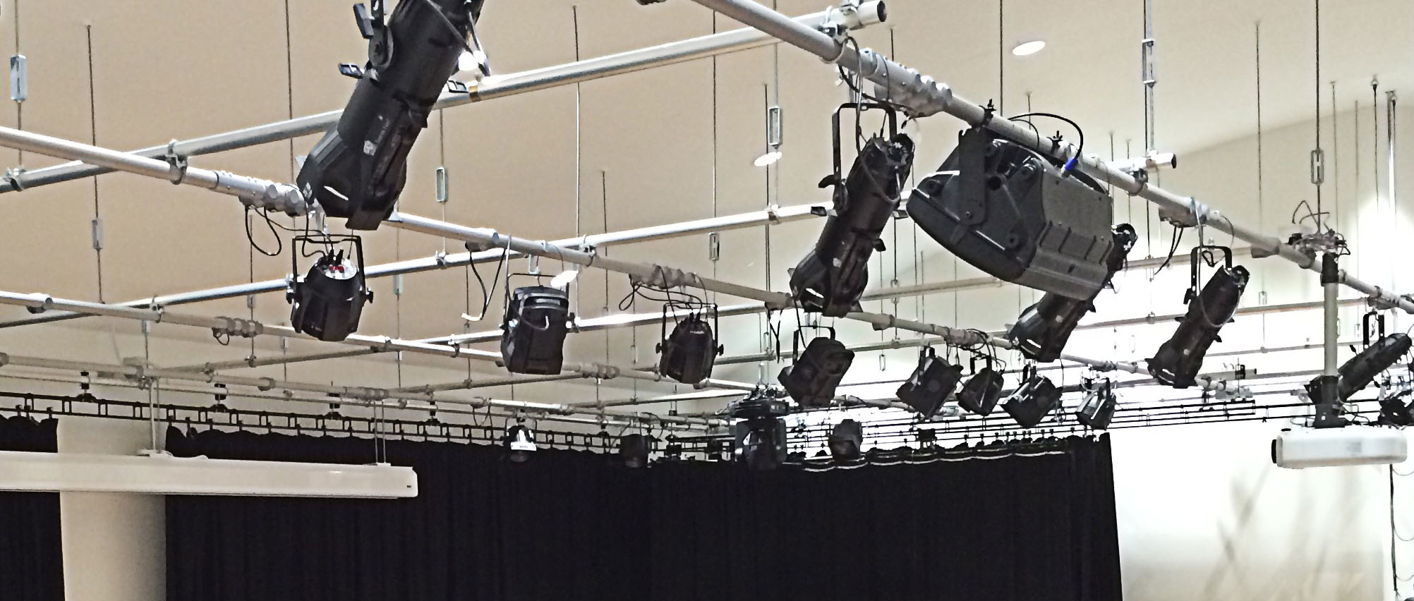 secondary school theatre lighting installation