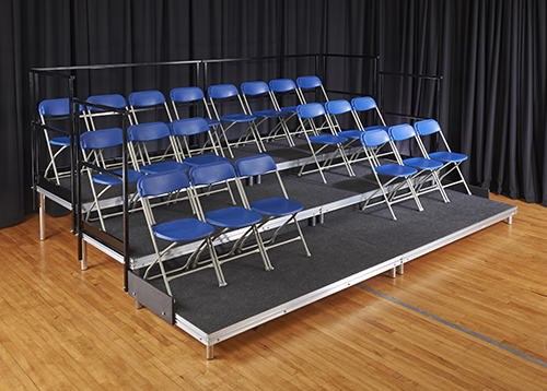 portable seating step hire stage