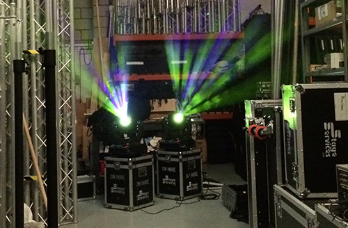stage lighting hire services West Sussex & Hampshire